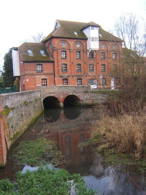 Hawks Mill, Needham Market (now flats)