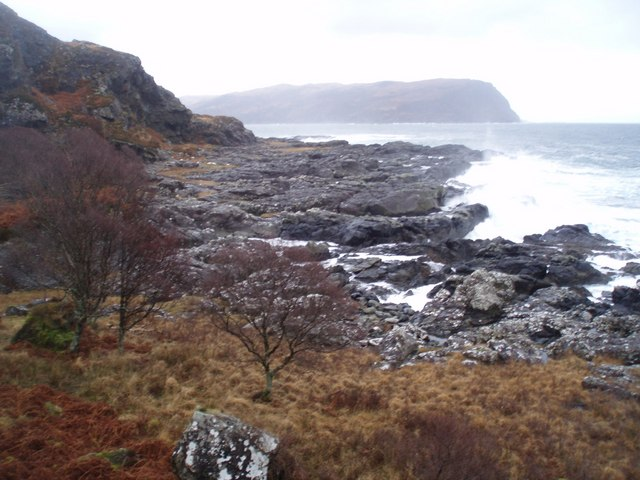 Across the Rocks to Laggan Deer Forest