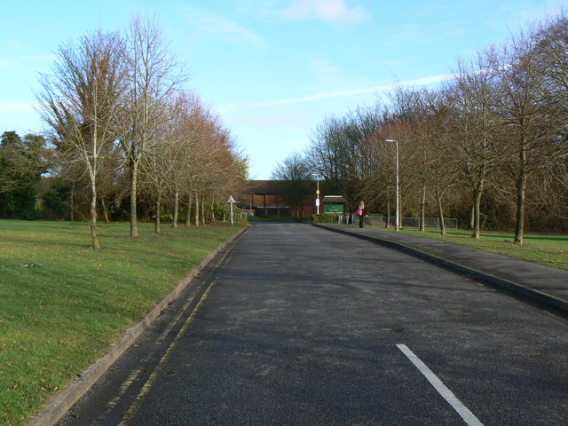 Approach to Fort Hill school