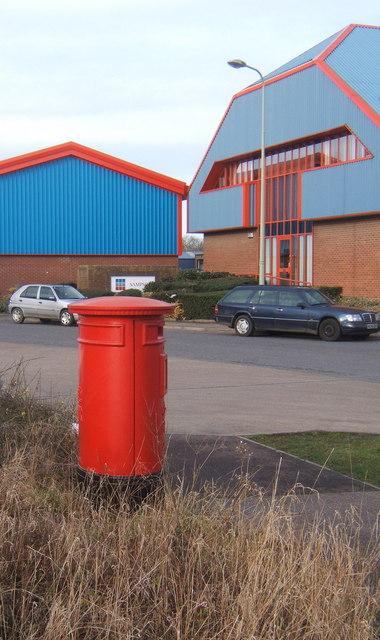 Postbox, Lion Barn industrial estate, Needham Market