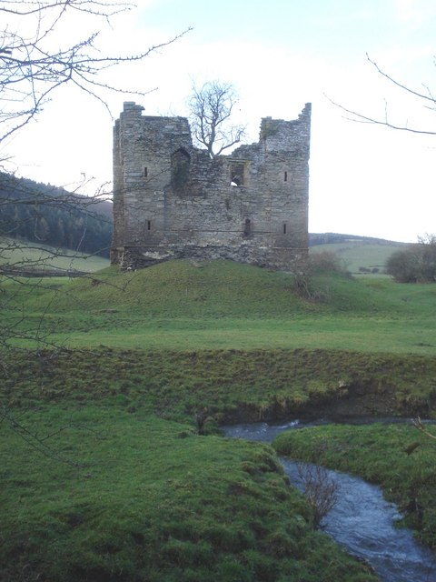 The castle at Hopton Castle