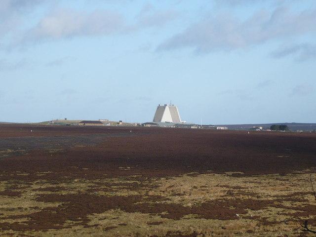 RAF Fylingdales seen from near Malo Cross