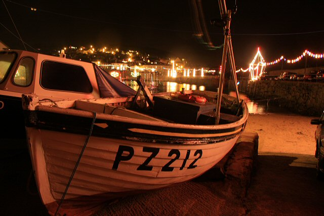 Mousehole Harbour at Christmas