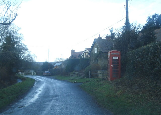 Telephone box at Hopton Castle