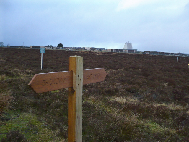 Permissive Bridleway sign near RAF Fylingdales
