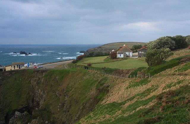 Polbream Cove and the 'Southernmost House'
