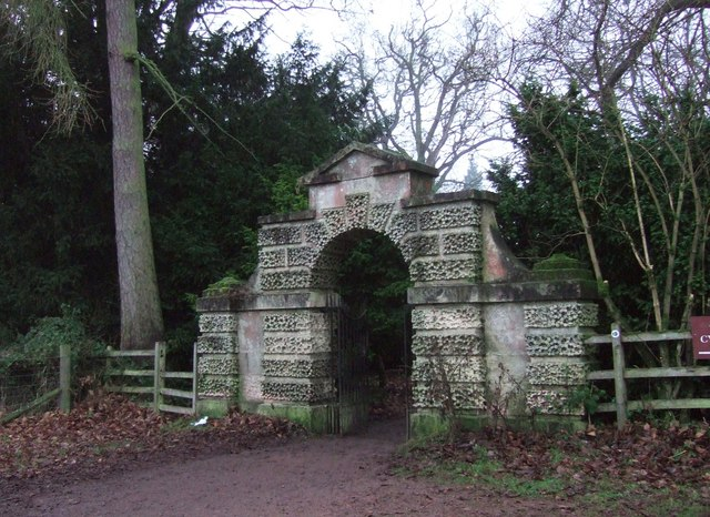 Gateway into the gardens, Clumber