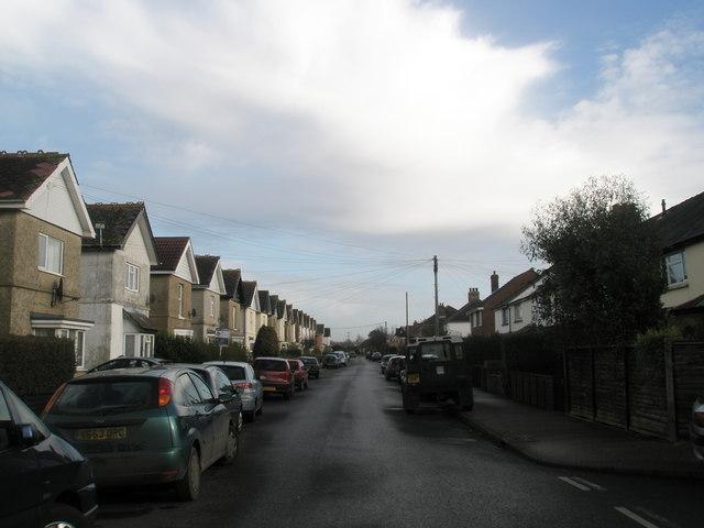Looking eastwards down Williams Road