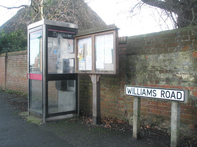 Telephone box in Williams Road