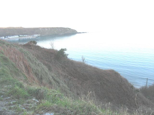 Site of a former cliff landslide