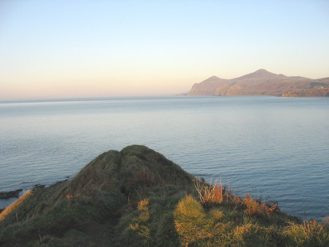 The tip of Penrhyn Nefyn at the end of the day