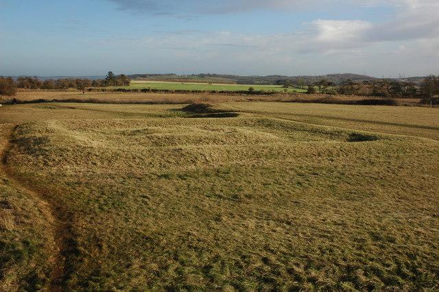 Earthworks on Leckhampton Hill