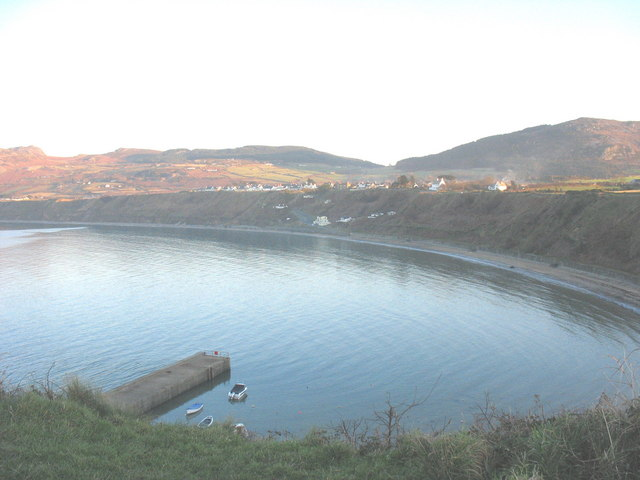 The shoreline of Nefyn Bay