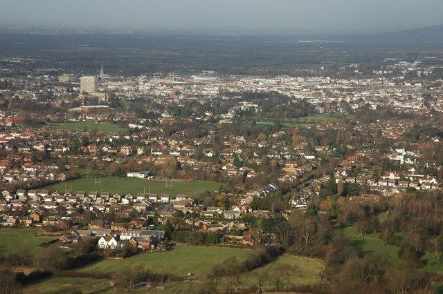 Cheltenham viewed from Hartley Hill