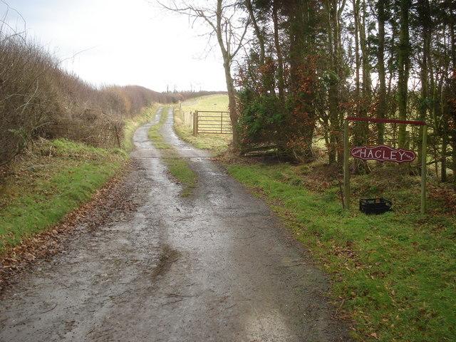 Entrance to Higher Hagley Farm
