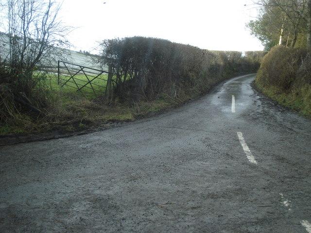 Lane junction at Obley