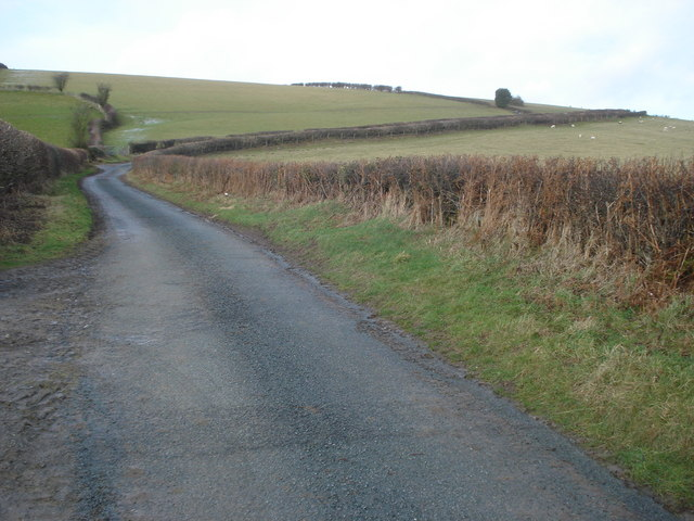 Lane up Hodre Hill
