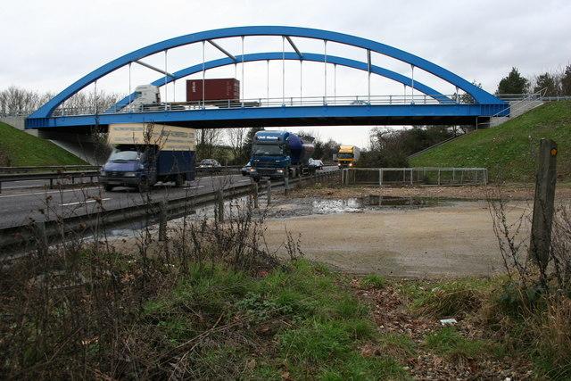 New bridge over the A12