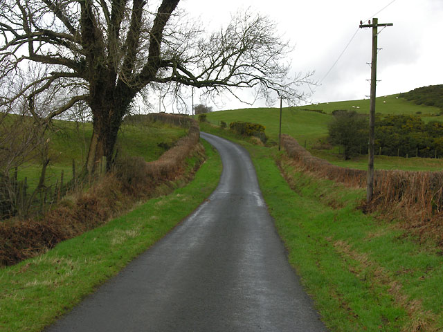 Minor road north of Swyddffynnon