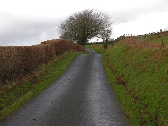Minor road north of Swyddffynnon