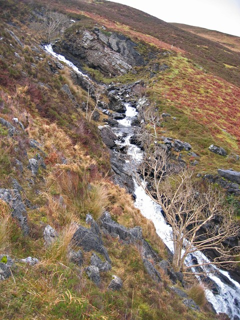 Falls on the Allt nan Leac