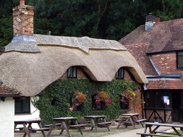 Old Mill Inn at Holbury with new thatch