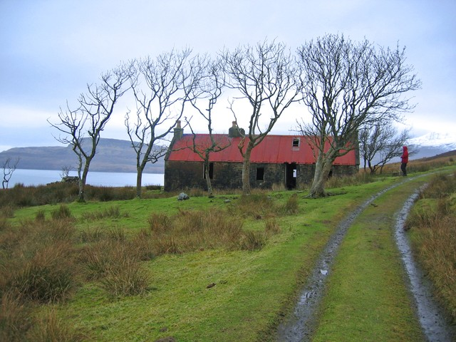 The red roofed house at Suisnish