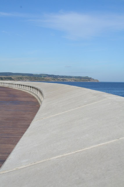 Sea wall of Marine Drive and North Bay Scarborough