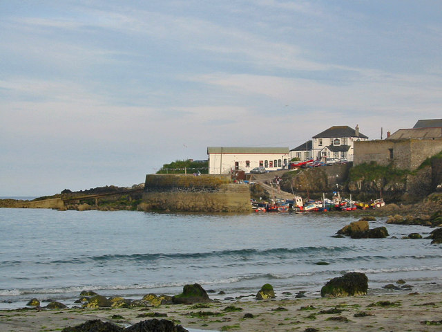 Coverack Harbour from the beach