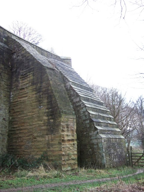Buttressed wall at Hardwick