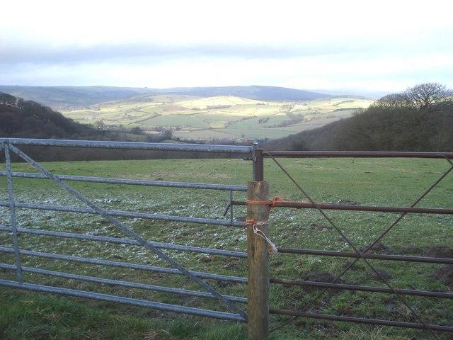 Gateway near Pen-y-cwm
