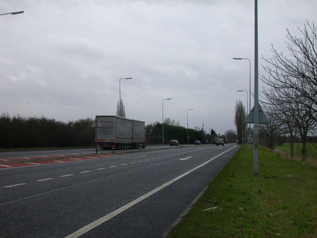 The A10 heading towards Cambridge