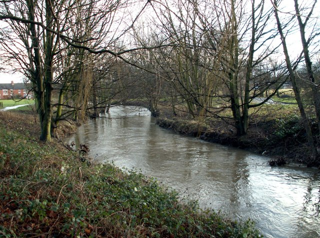 The River Dearne looking to Mill Lane