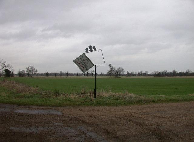 Wind-blown sign