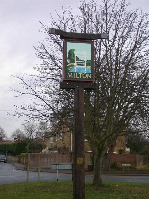 Milton Village Sign south-west side