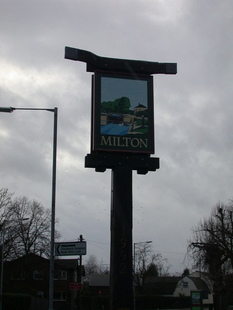 Milton Village Sign north-east side