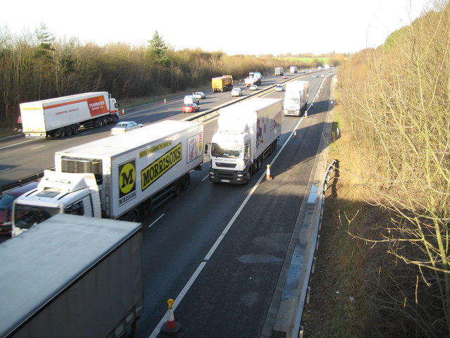 M11 Motorway near Sheering