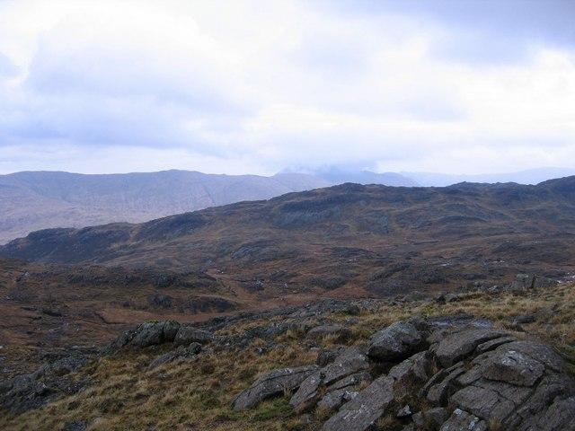 Rough terrain near Creach Beinn