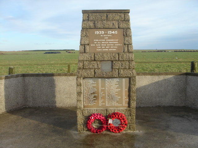Memorial at site of Skitten Airfield