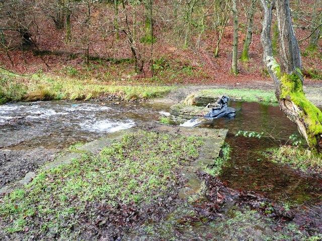Weir on Nant Gwyddon