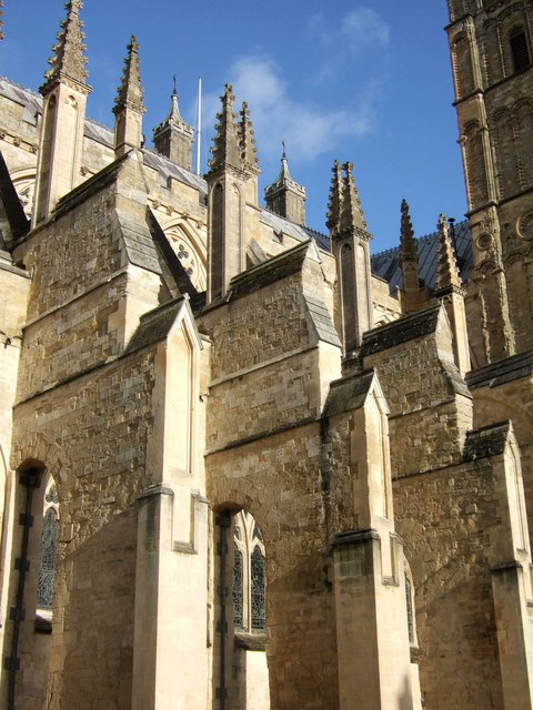 Buttresses, Exeter Cathedral
