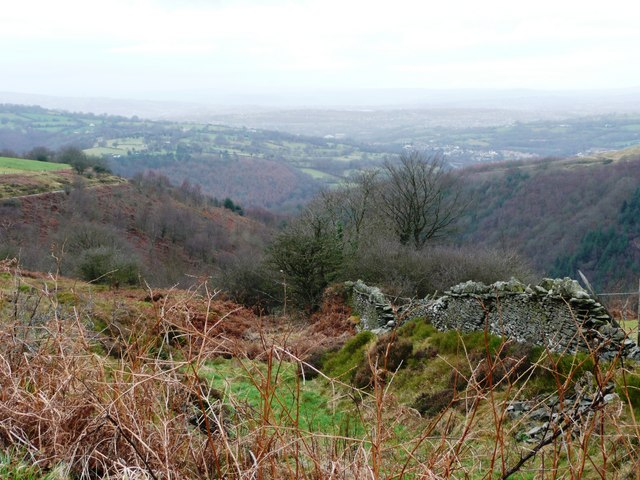 View above Hafod-fach quarry