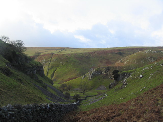 View west to the mouth of Trollers Gill