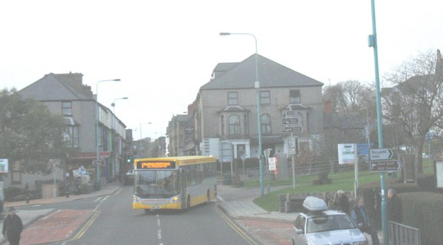 Bus stop at the centre of Criccieth