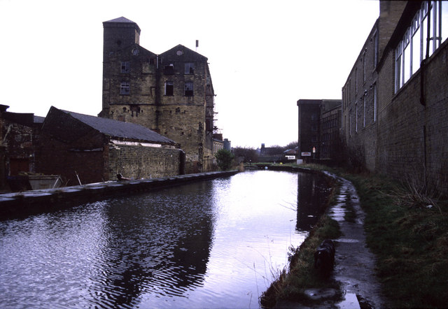 Industrial landscape - Huddersfield Narrow Canal, Milnsbridge
