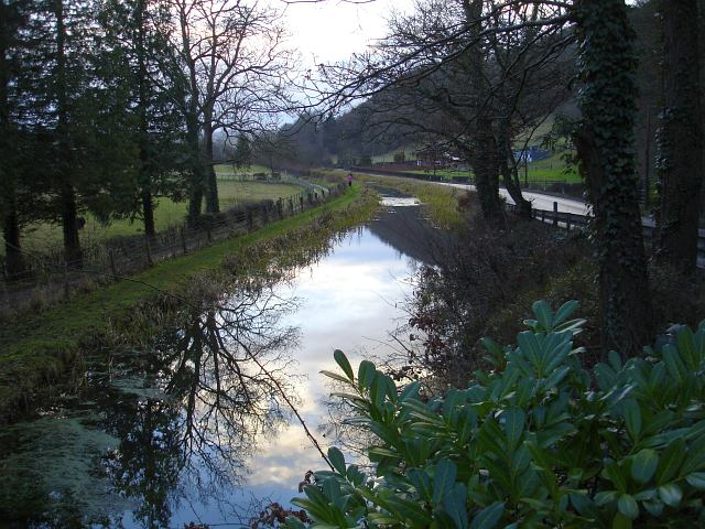 Montgomery canal from Glan Hafren bridge
