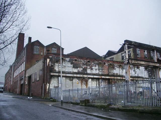 Demolished part of works, Birley Street, Blackburn