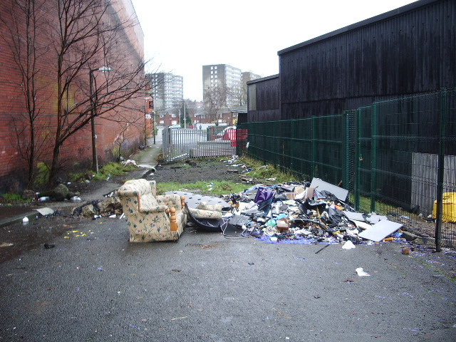 It looks like a nice comfortable settee with a view of Birley Street, Blackburn