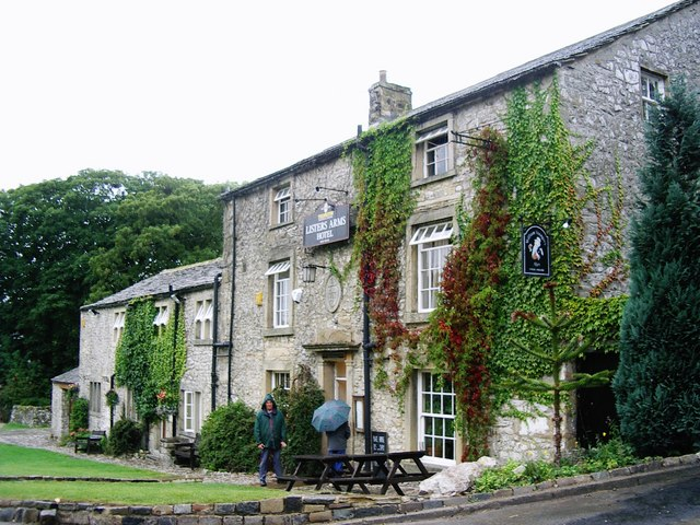 The Lister's Arms Hotel, Malham in the rain
