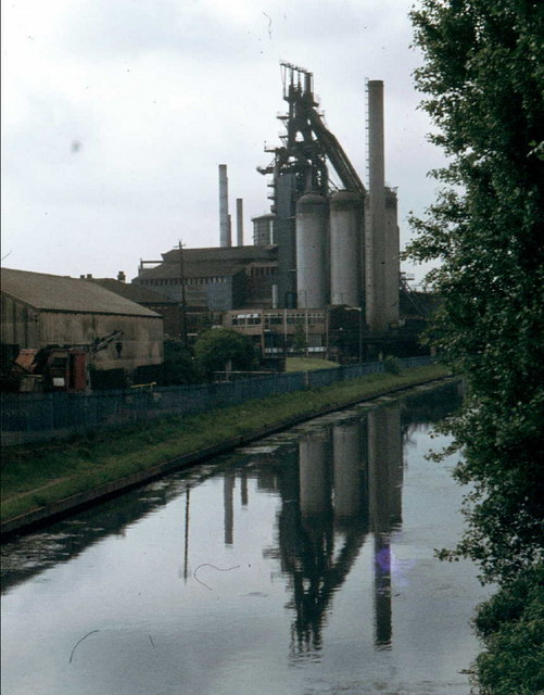 The long since demolished Blast Furnace at Bilston Steelworks